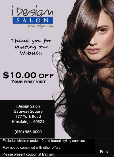 iDesign Salon - $10.00 first visit